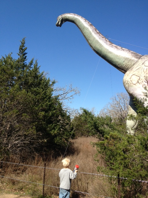 Jasper saw some dinosaurs this weekend.