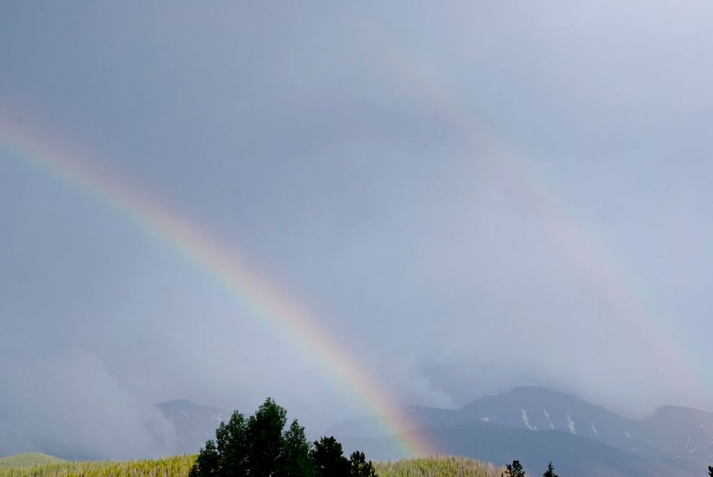 A leftover from vacation last month.  Double rainbow.  Not the best light, so I could not do it justice.